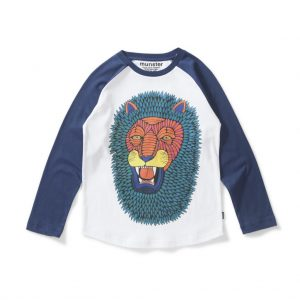 hipster kids clothes lion tee mulga