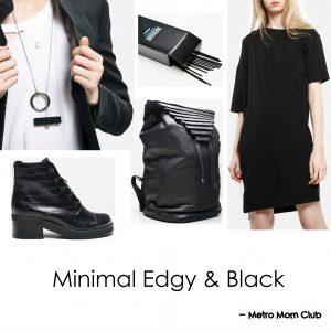 minimal edgy mom style