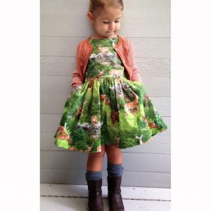 woodland forest dress
