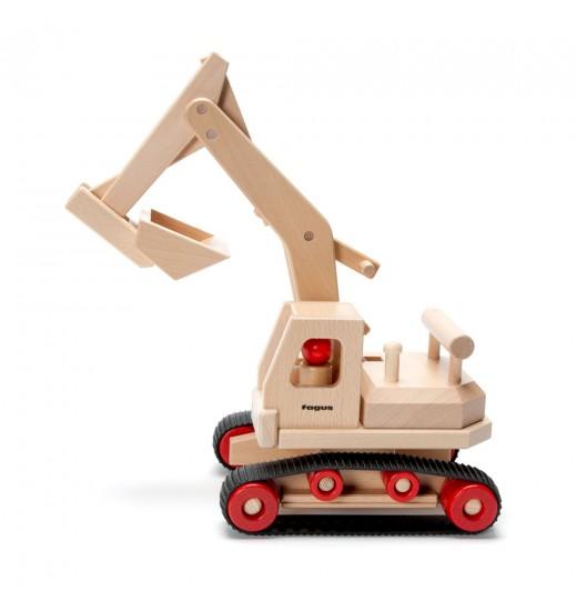 excavator natural toys