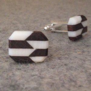 Geometry trend geometric cufflinks