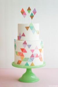geometry trend geometric cake