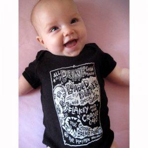 punk baby onesie