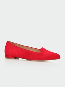 parisian red flats mom style