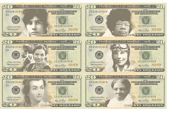 women on currency petition