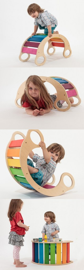 rainbow rocker collage