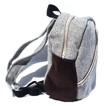 gray toddler backpack