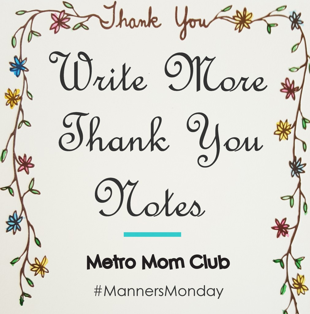 manners monday writing thank you notes