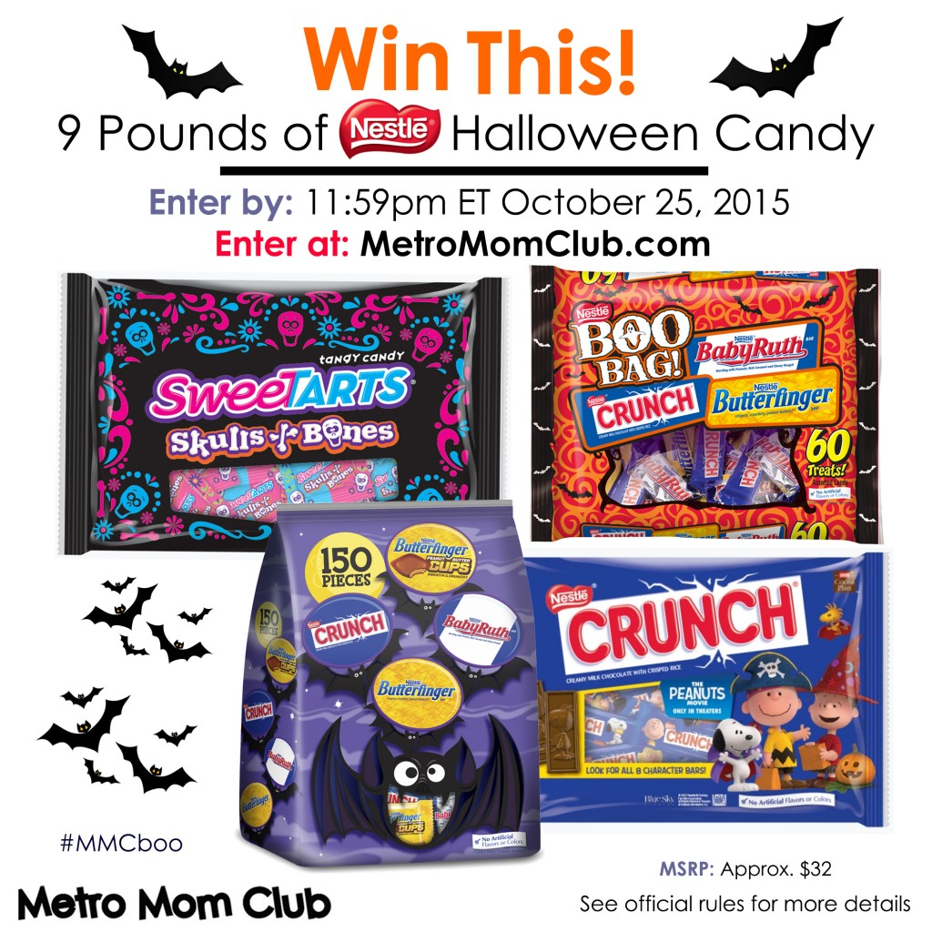 Nestle Halloween candy giveaway metro mom club