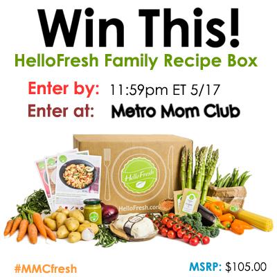 MetroMomClub HelloFresh Giveaway SM