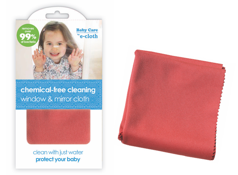 baby care by ecloth chemical free anti bacterial Window & Mirror Cloth cleaner