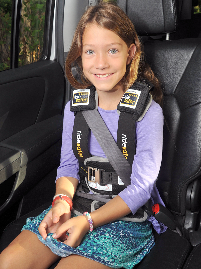 family road trip products RideSafer travel vest -- easy to use, safe, convenient and legal in all states.