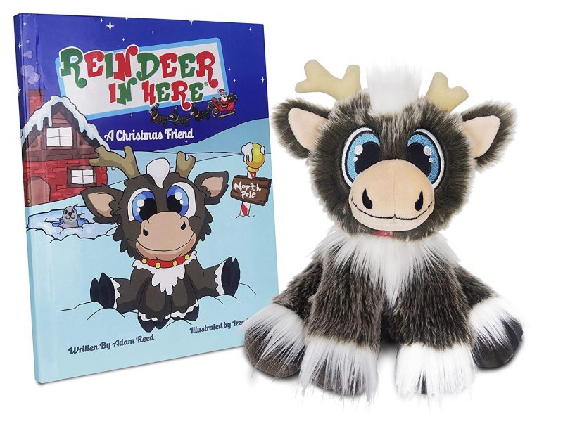 Reindeer in Here book and toy positive christmas tradition