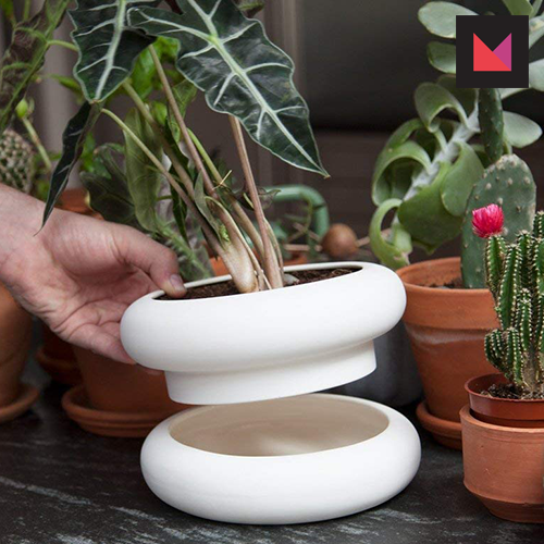 gifts moms can give themselves modern stacking planter by areaware
